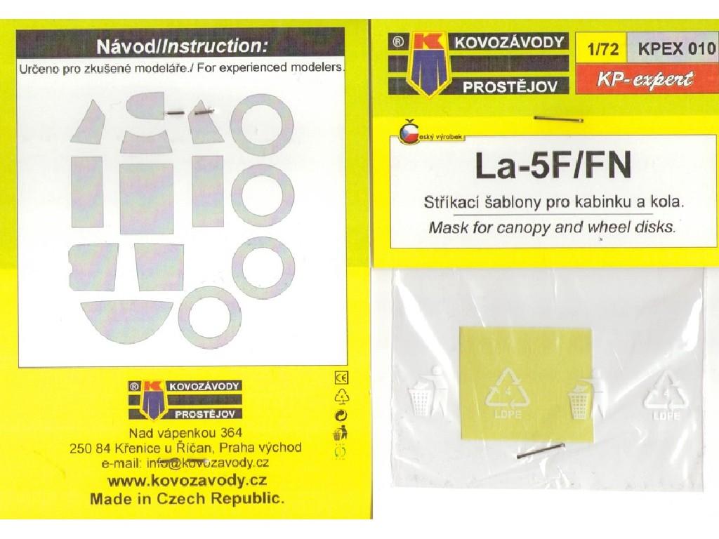1/72 La-5F/FN canopy mask