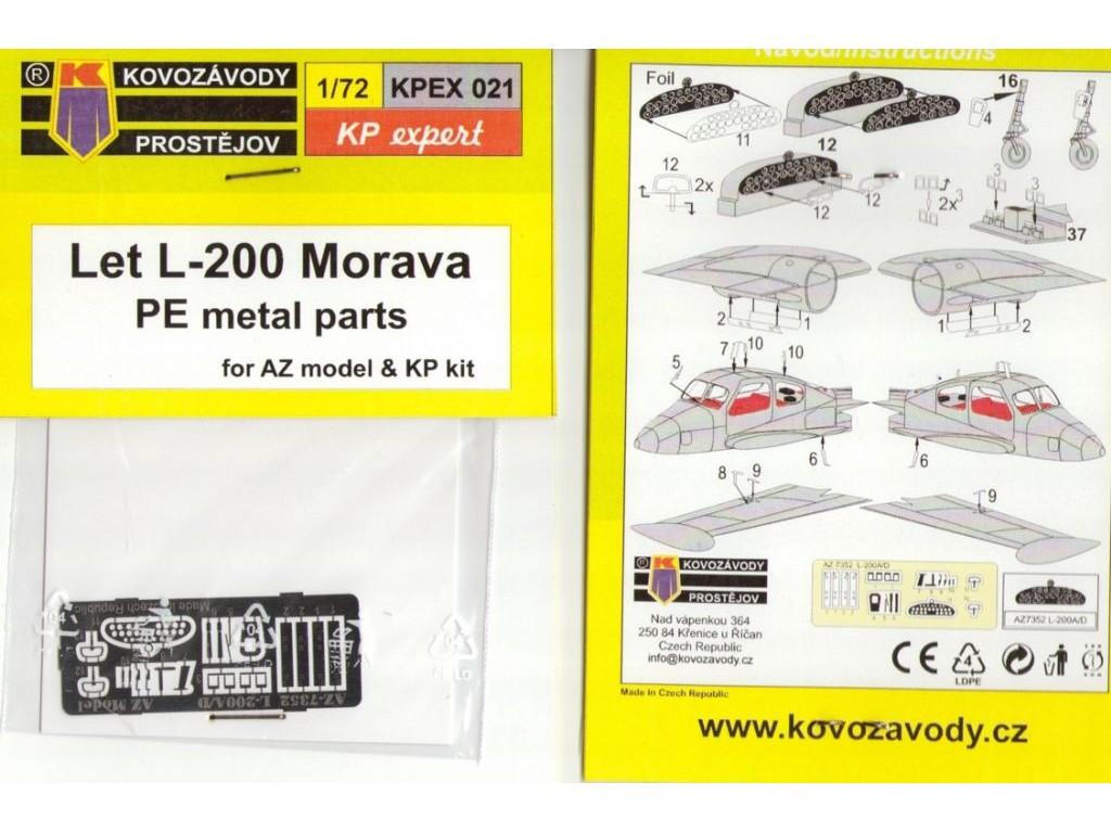 1/72 Let L-200A/D Morava PE parts