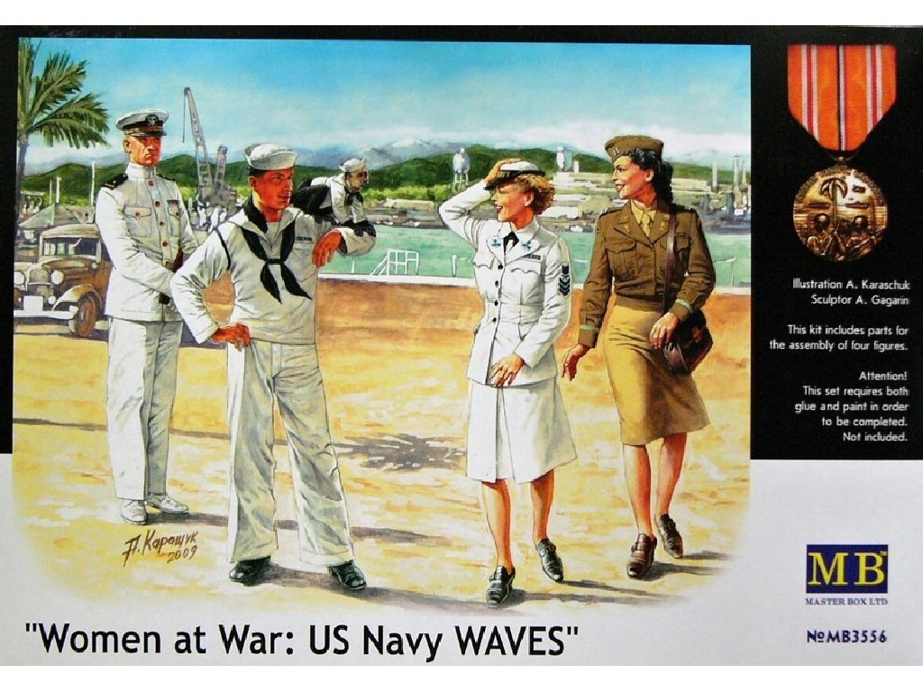 AKCE 1/35 Plastikový model - Women at War (US Navy Waves)