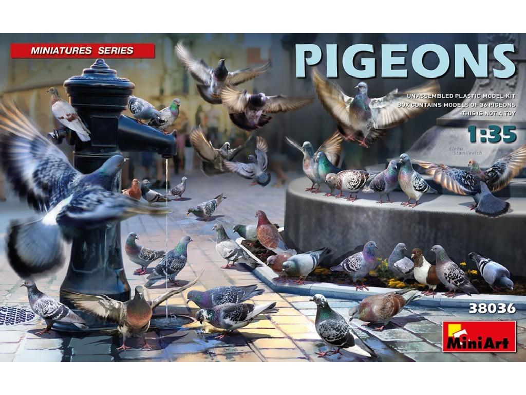 1/35 Plastikový model - Pigeons (36 pcs.)