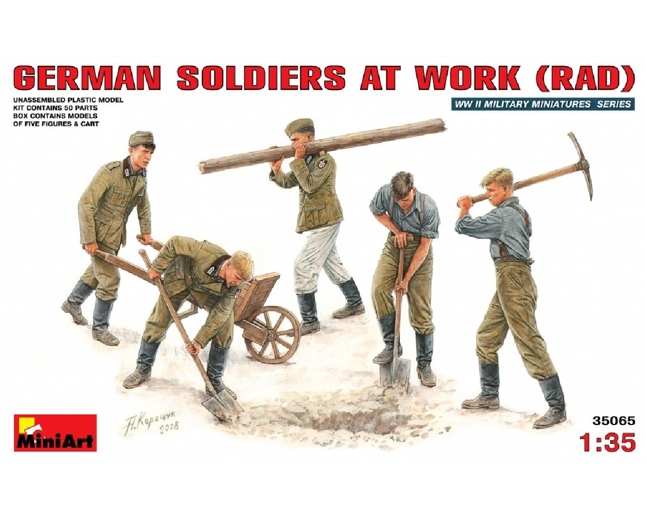 AKCE 1/35 German Soldiers at Work ( RAD)