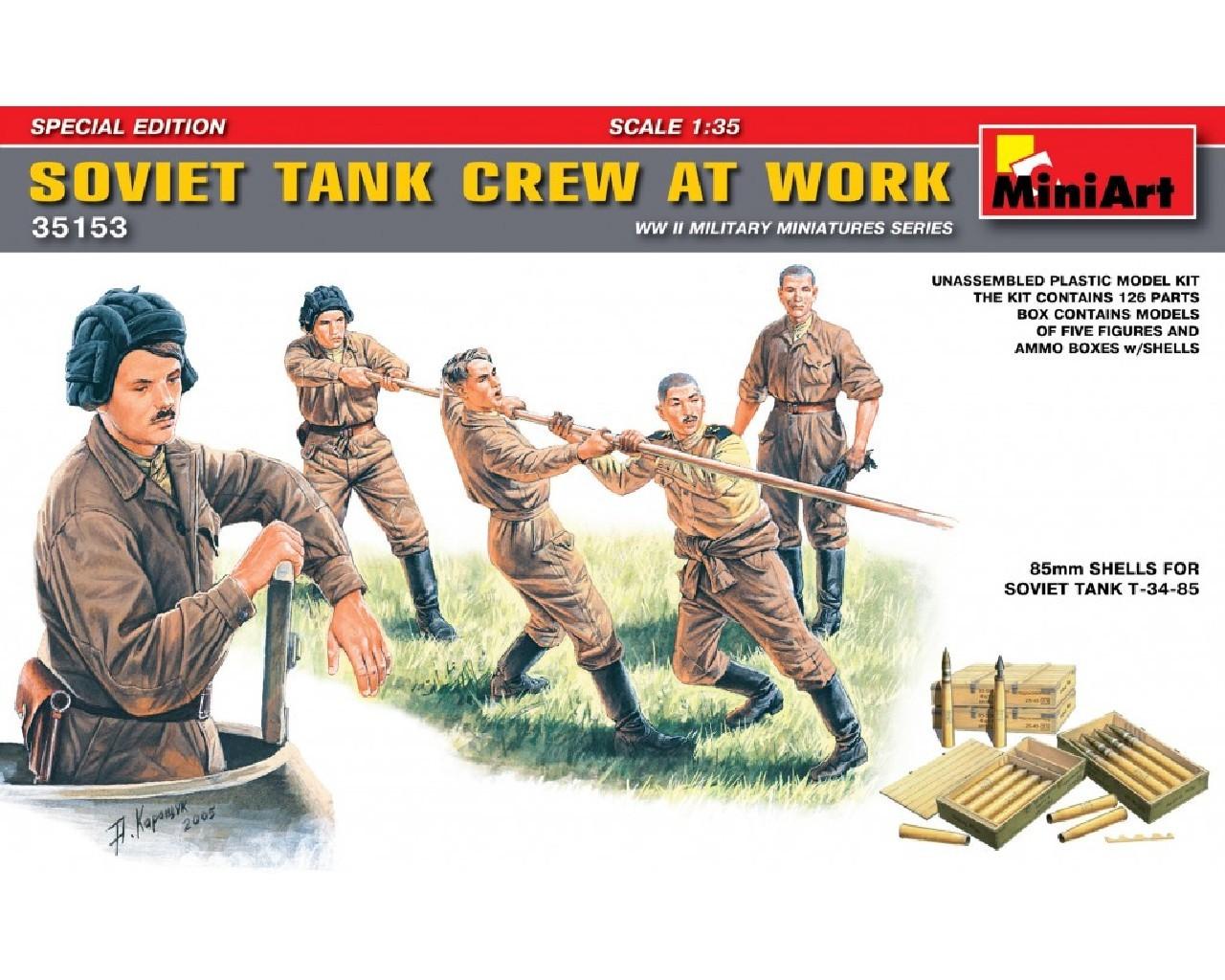 1/35 Soviet Tank Crew at Work. Special Edition