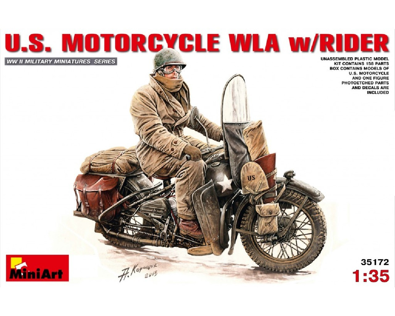 1/35 U.S.Motorcycle WLA with Rider