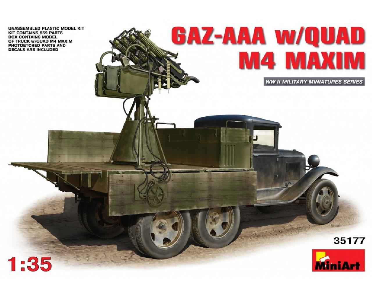 1/35 GAZ-AAA  w/QUAD M4 MAXIM