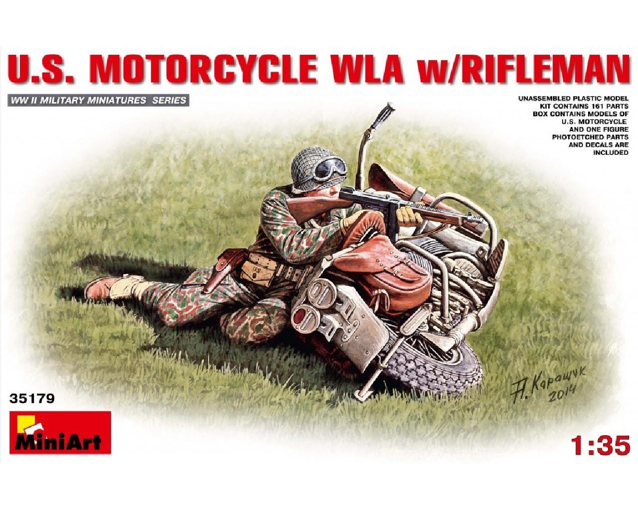 1/35 U.S.Motorcycle WLA with Rifleman