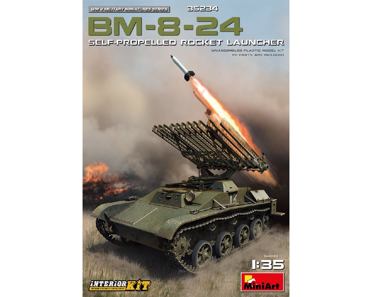 1/35 BM-8-24 Self-Propelled Rocket Launcher. Int. Kit