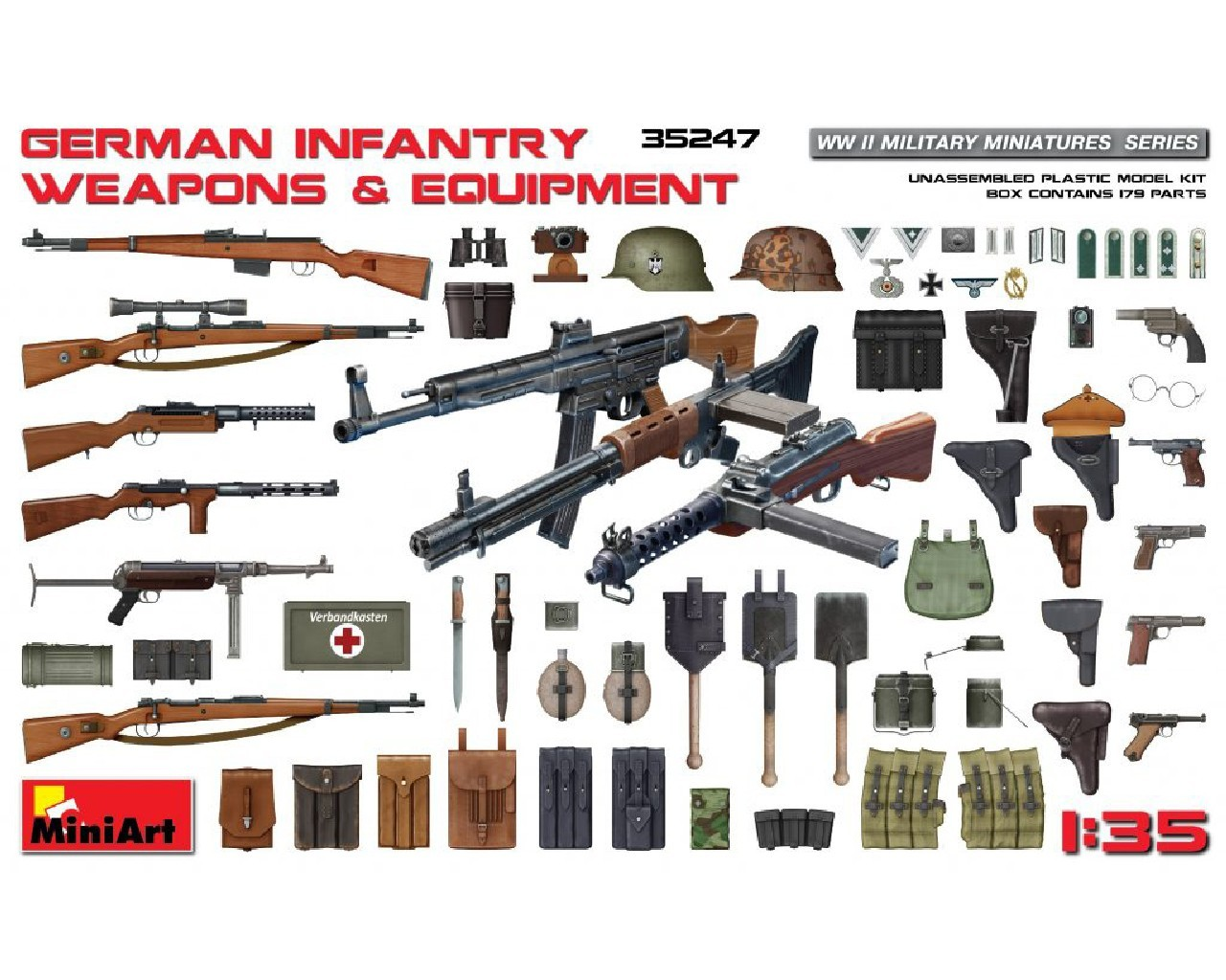 1/35 German Infantry Weapons and Equipment