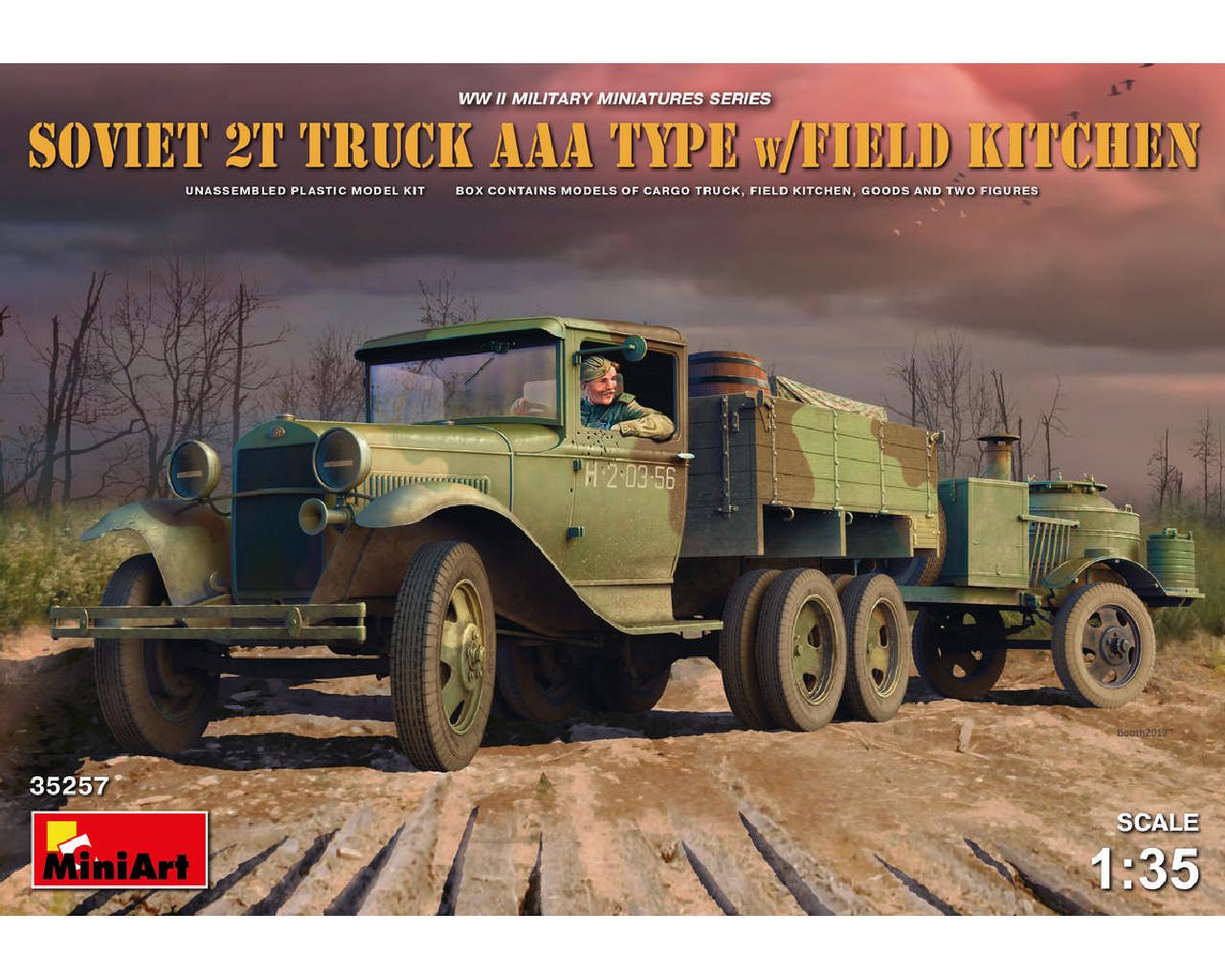 1/35 Soviet 2 t Truck AAA Type w/Field Kitchen