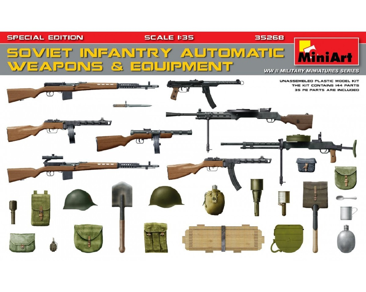 1/35 Sov. Inf. Automatic Weapons and Equipment. Sp. Ed.