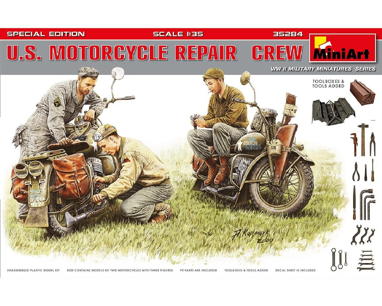 1/35 U.S. Motorcycle Repair  Crew. Special Edition