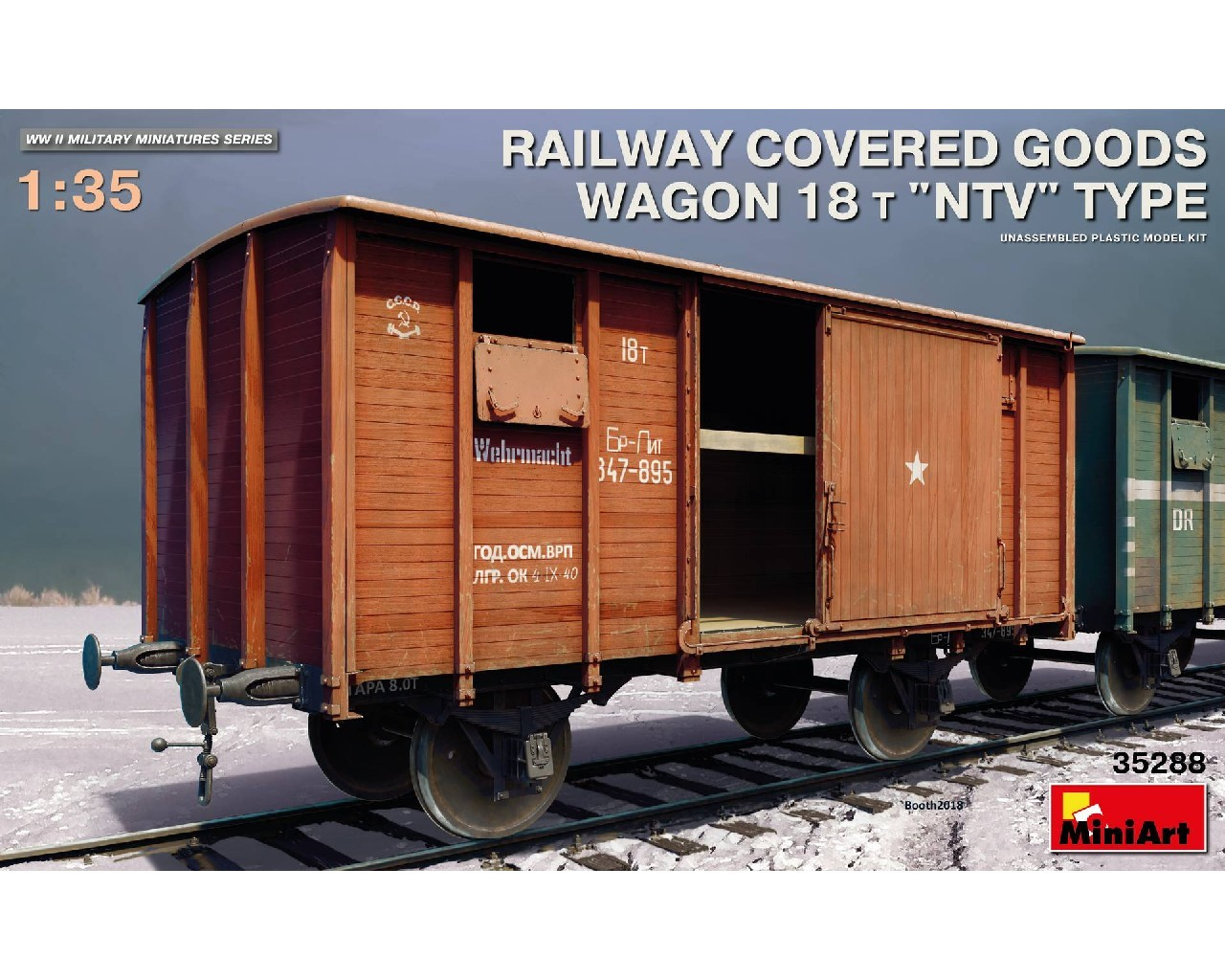 1/35 Railway Covered Goods Wagon 18 t NTV-Type