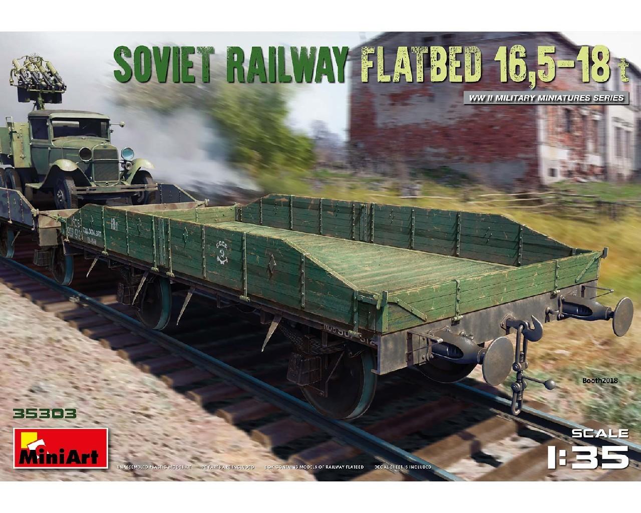 1/35 Soviet Railway Flatbed 16,5-18 t