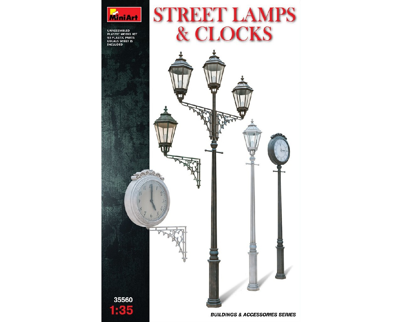 1/35  Street Lamps and Clocks