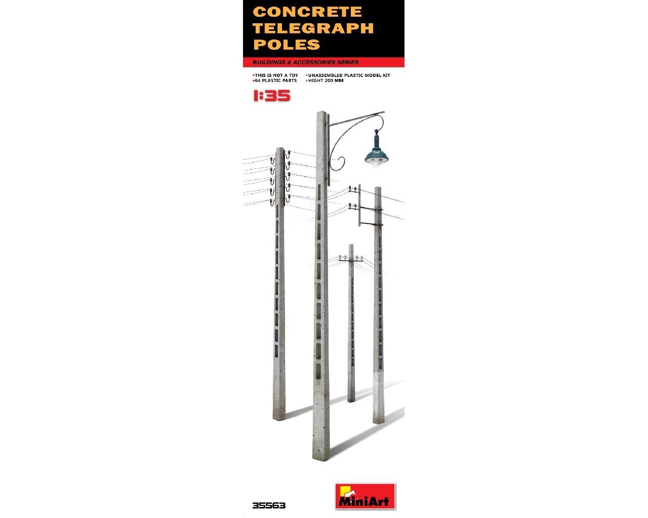 1/35  Concrete Telegraph Poles