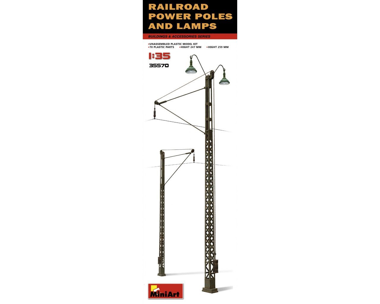 1/35 Railroad Power Poles and Lamps