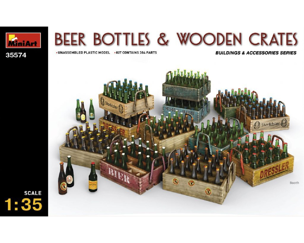 1/35 Beer Bottles and Wooden Crates