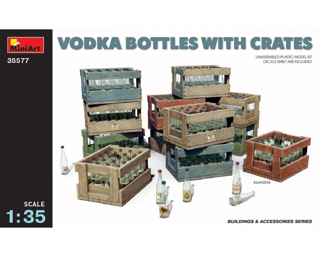 1/35 Vodka Bottles with Crates