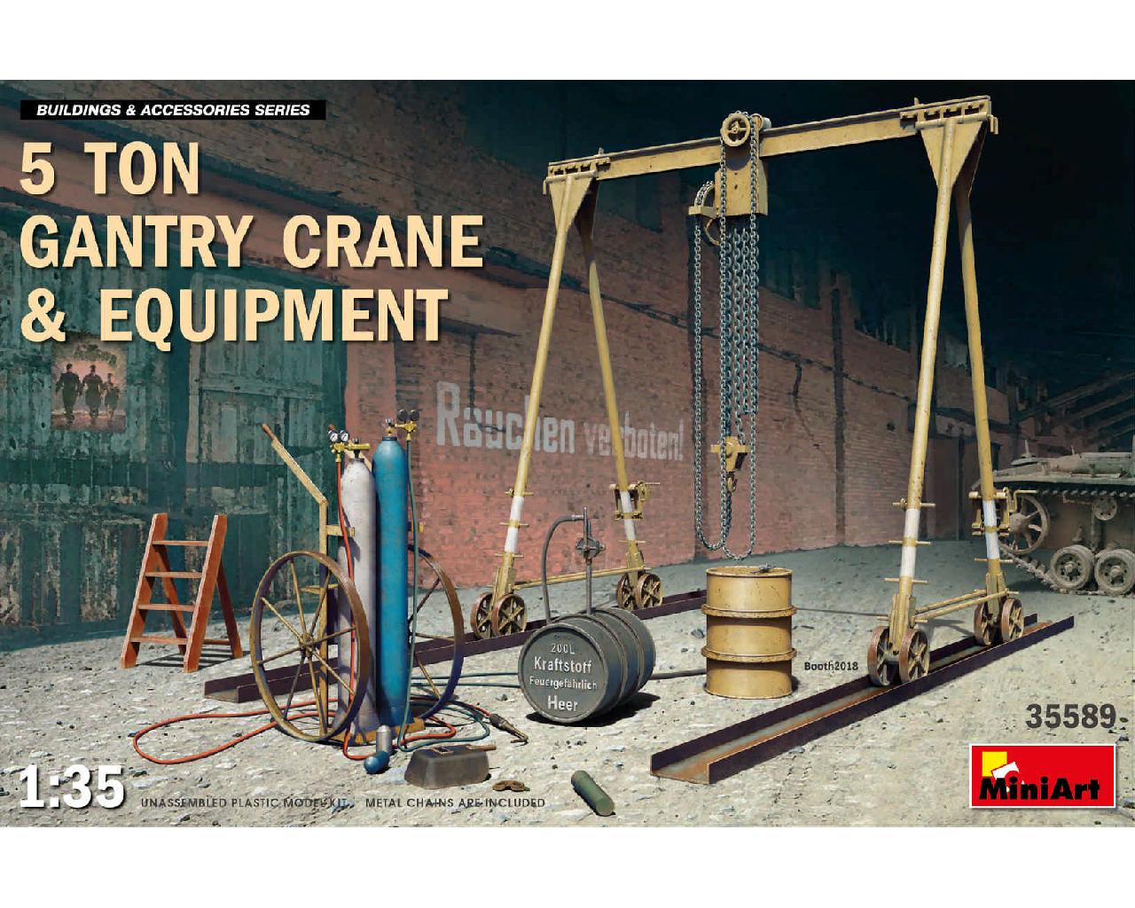 1/35 5 Ton Gantry Crane and Equipment