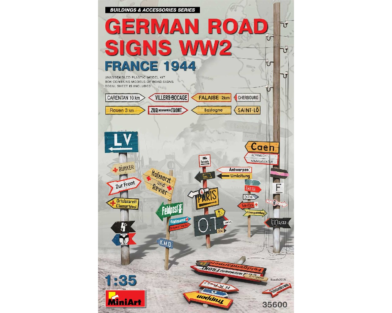 1/35 German Road Signs WW2 (France 1944)