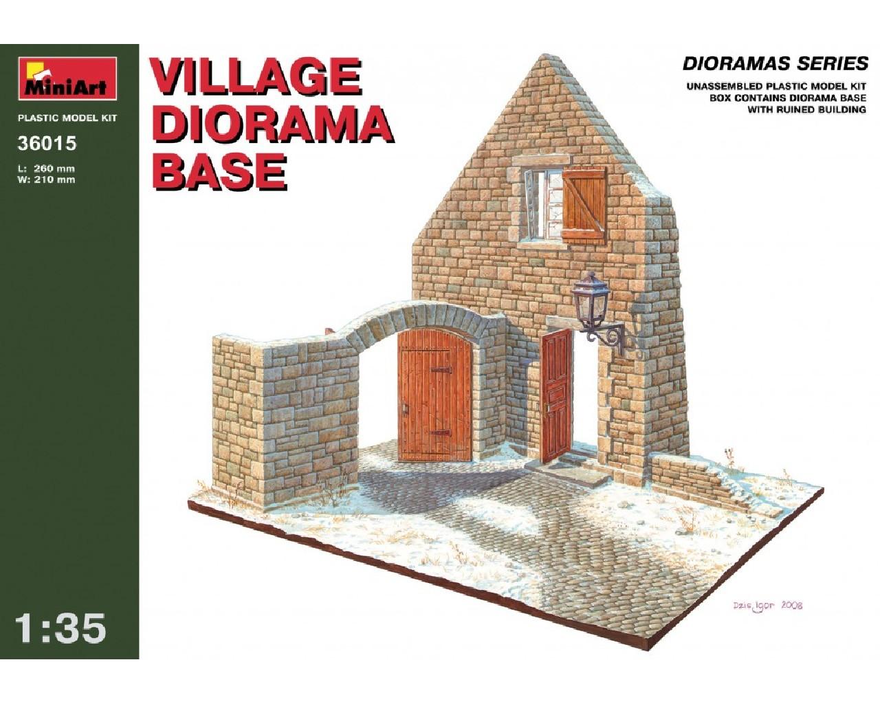 1/35 Village Diorama Base