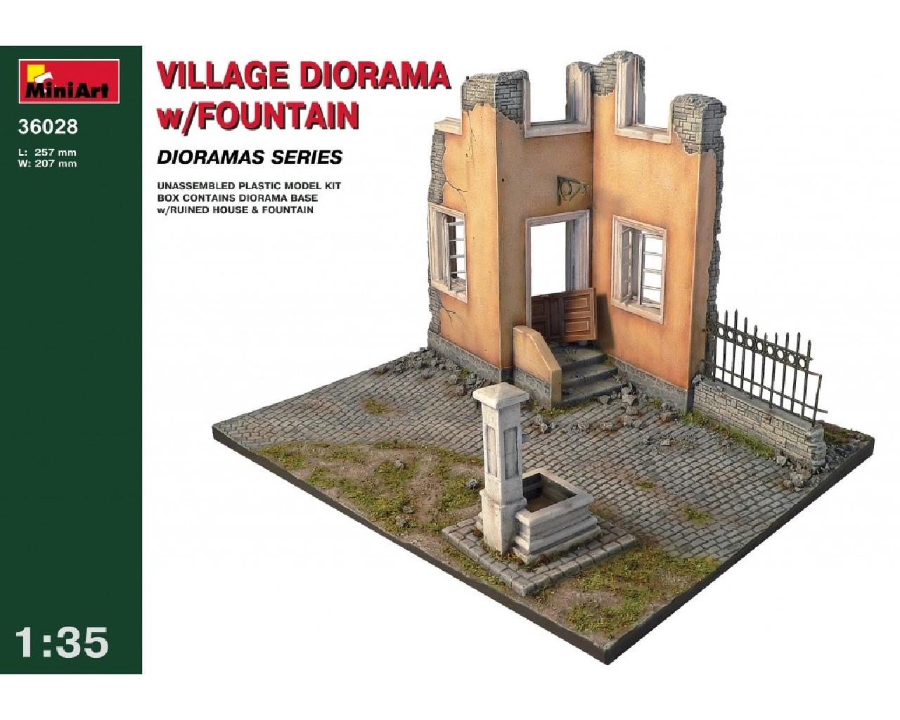 1/35 Village Diorama w/Fountain