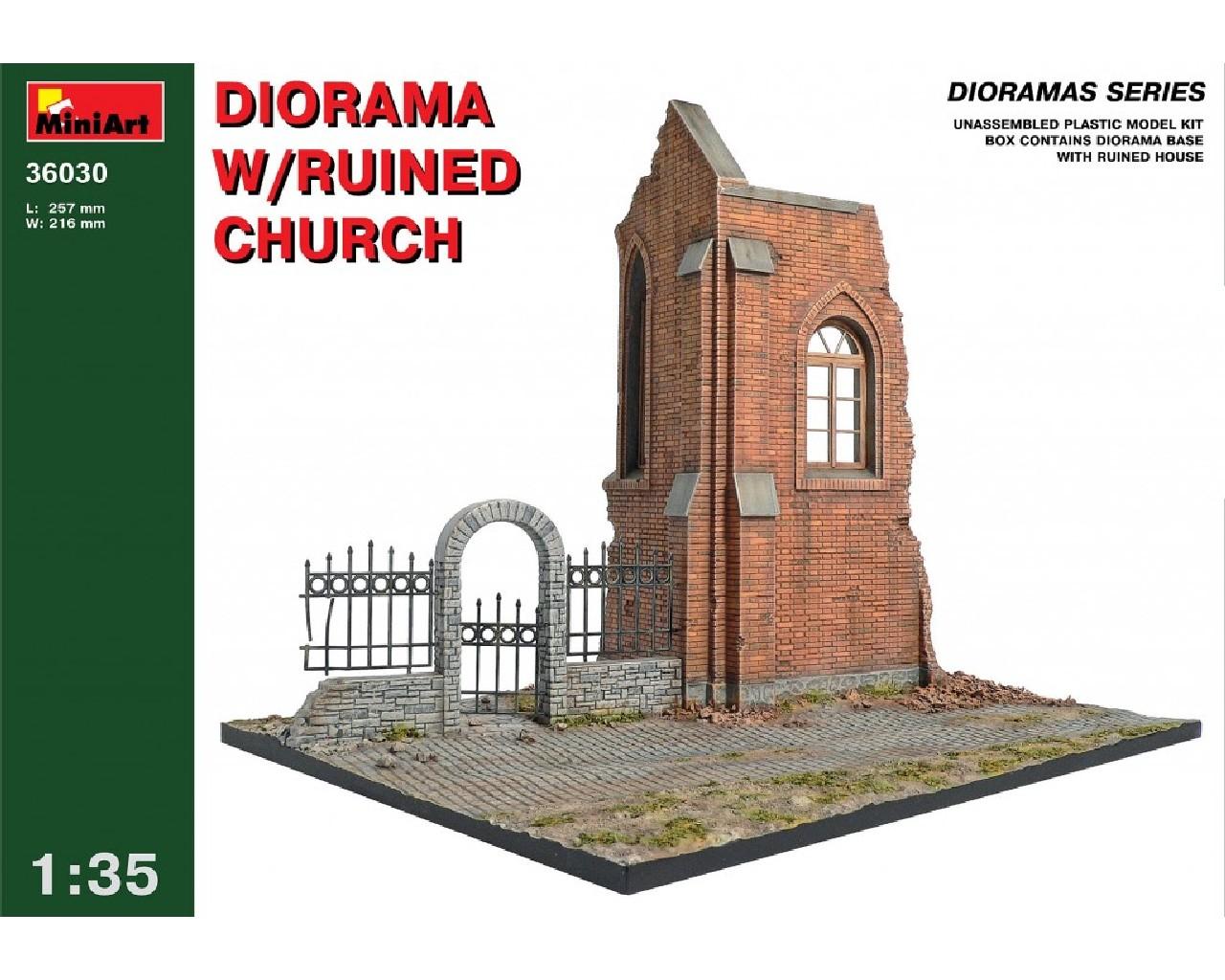 1/35 Diorama w/Ruines Church