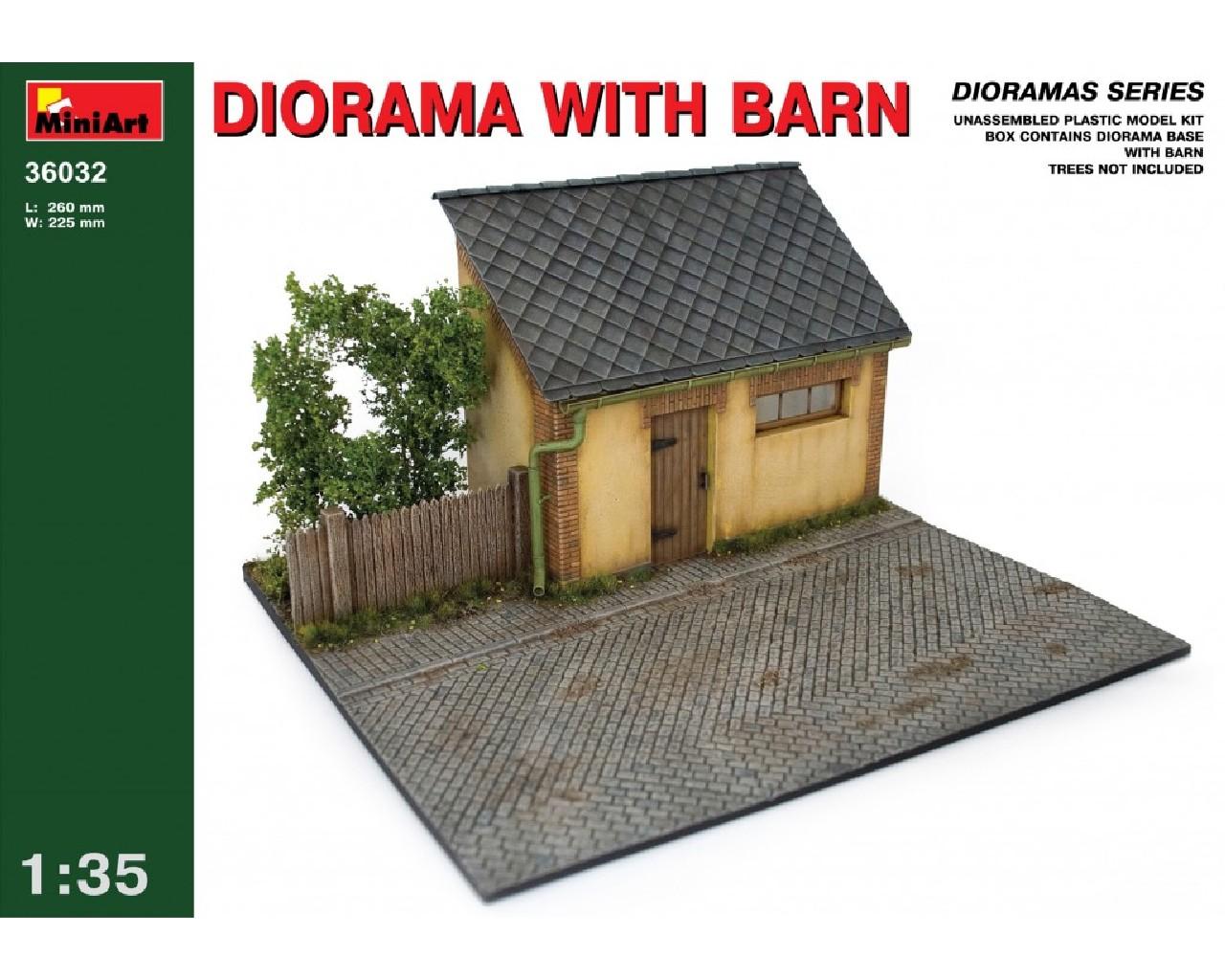1/35  Diorama with Barn