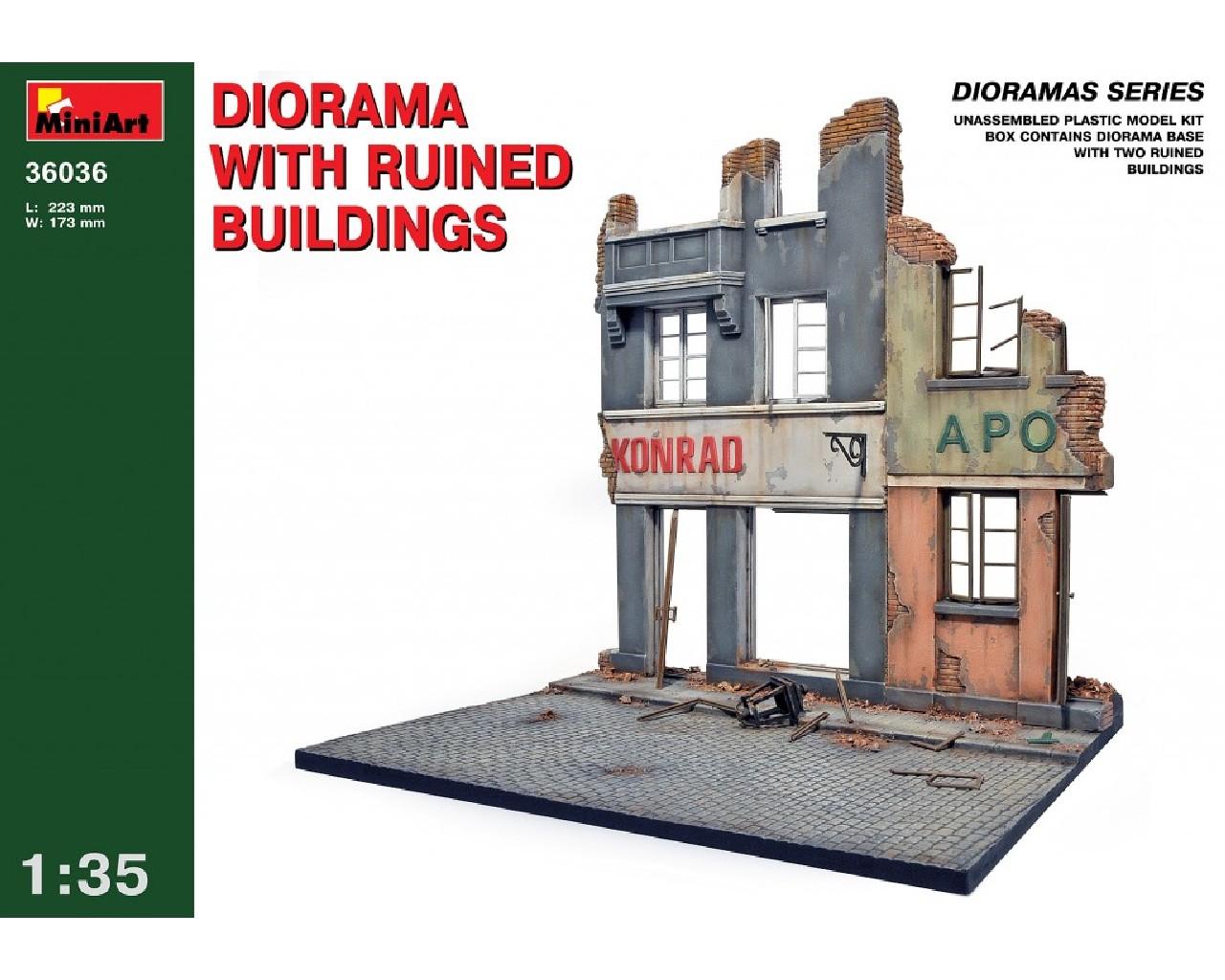1/35 Diorama w/ Ruined Buildings