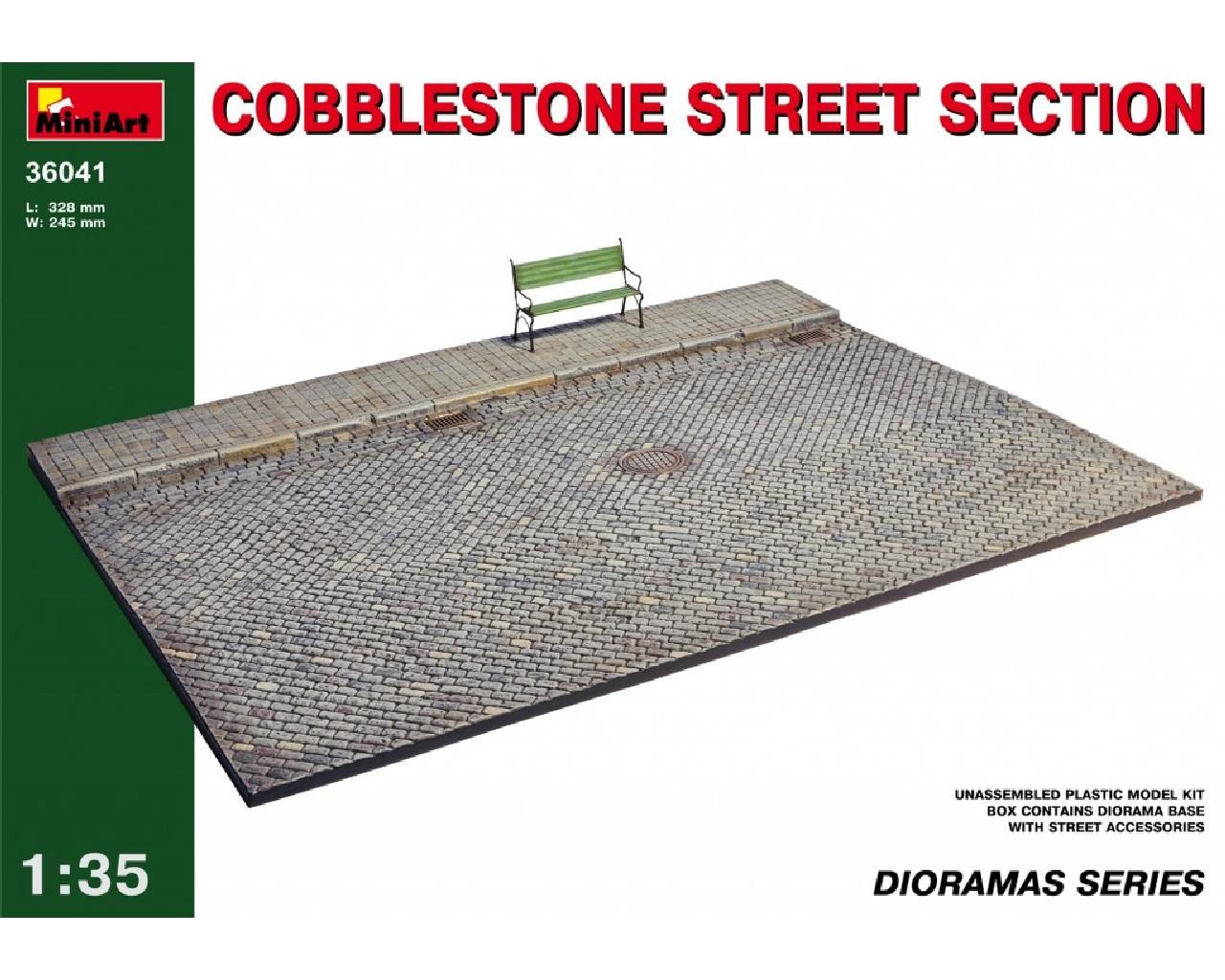 1/35 Cobblestone street section