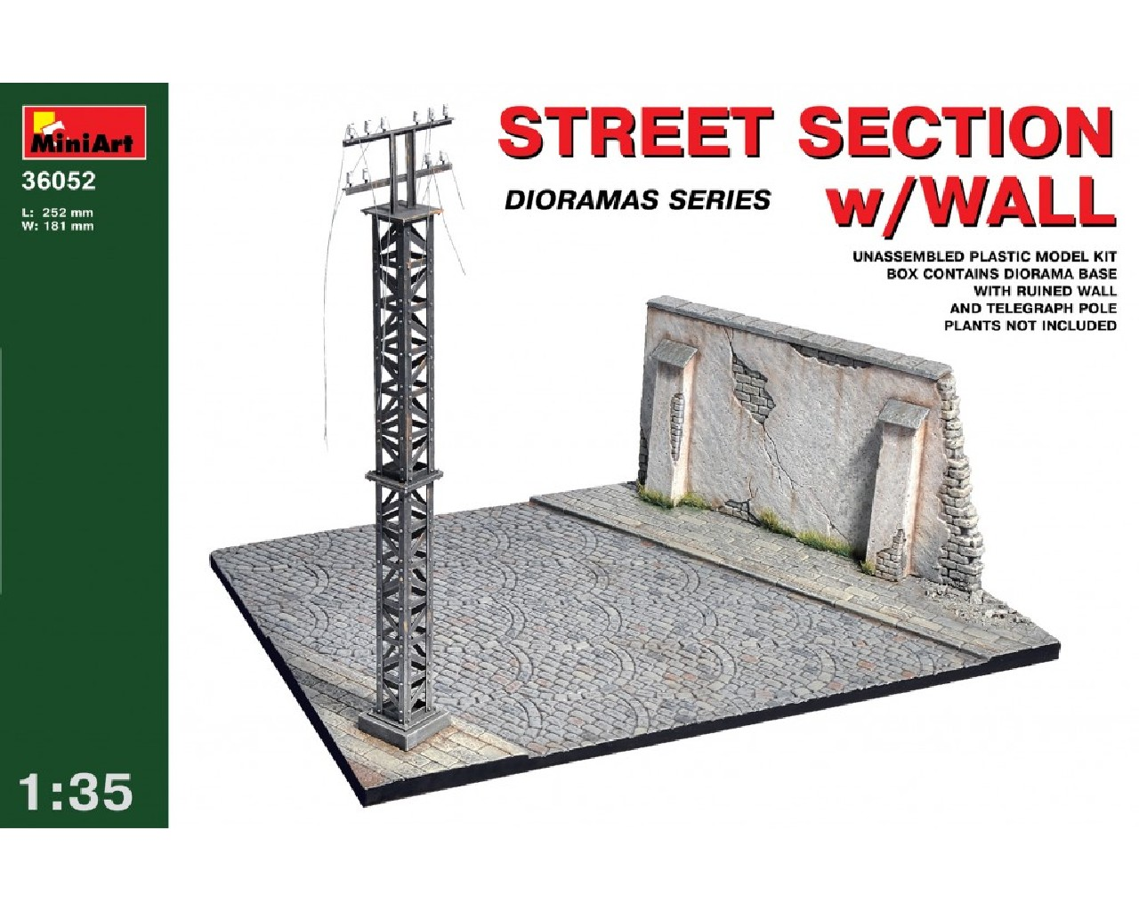 1/35 Street section w/Wall