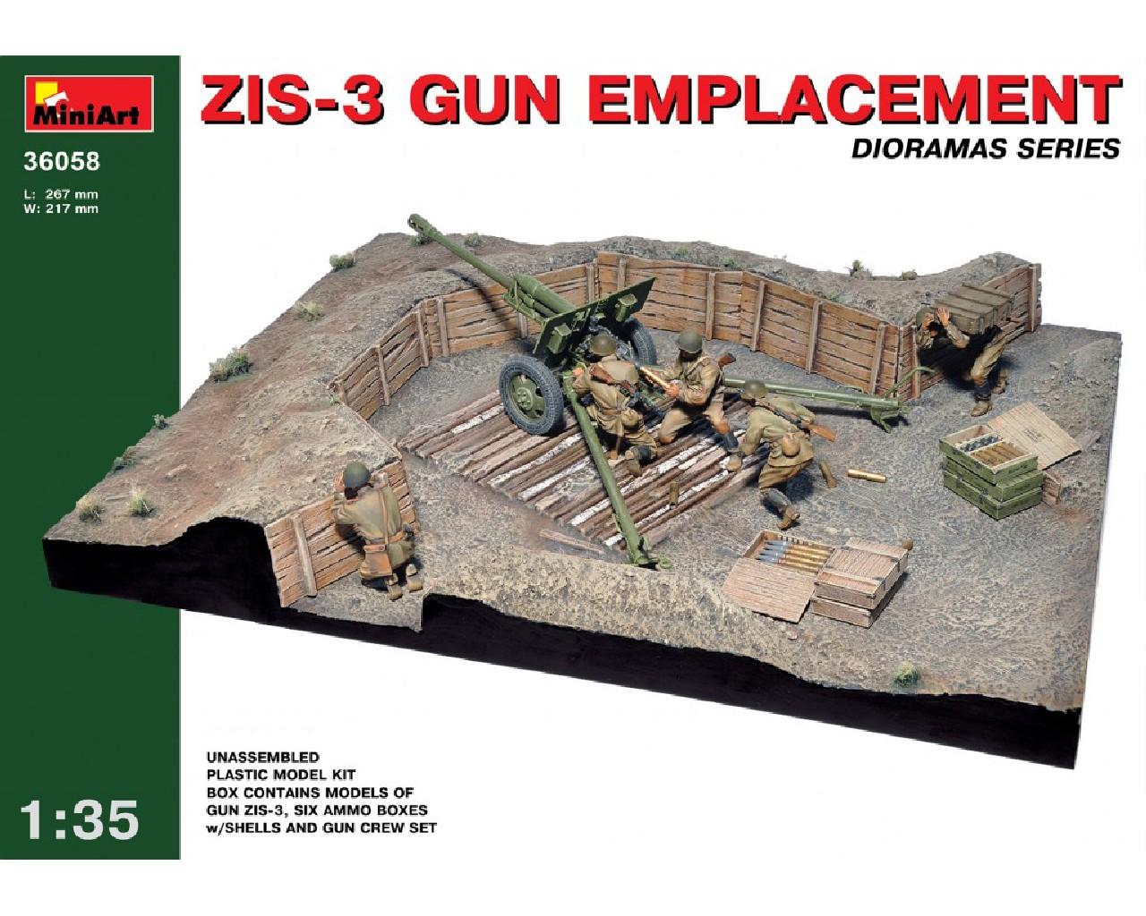 1/35 ZIS-3 Gun Emplacement