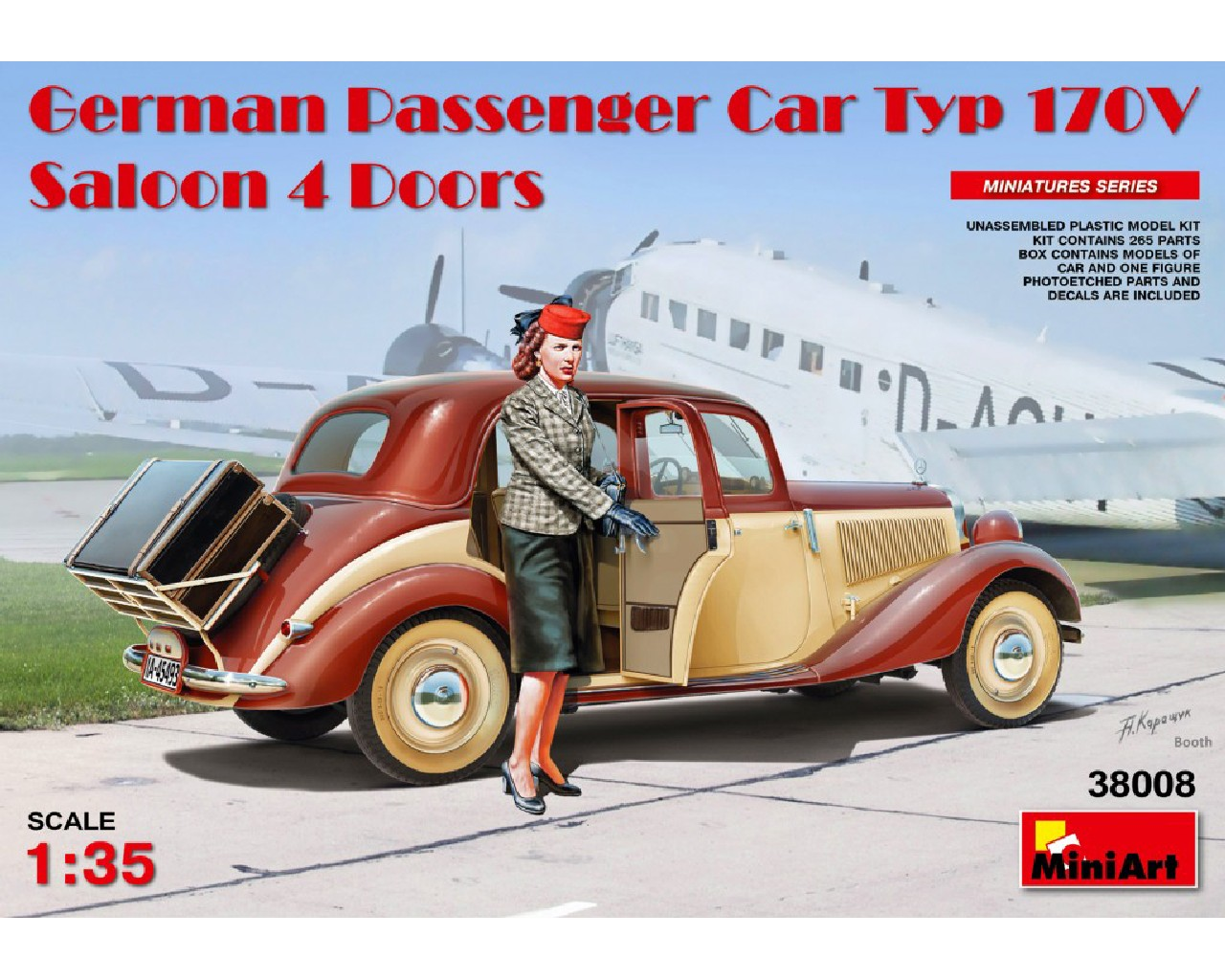 1/35 German Passenger Car Typ 170V.Saloon 4 Doors