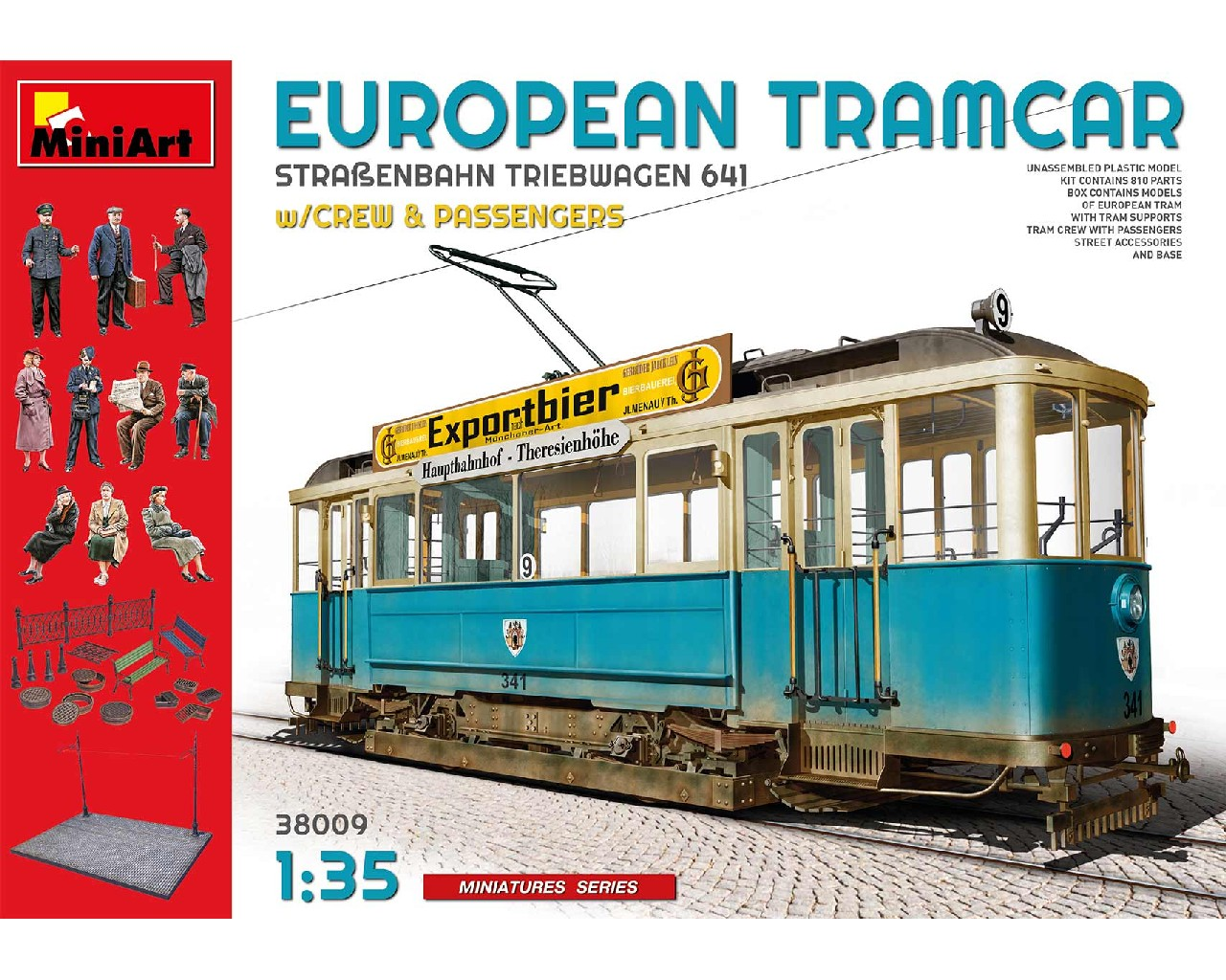 1/35 European Tramcar with Crew and Passengers