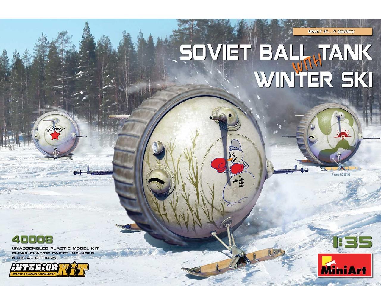 1/35 Soviet Ball Tank with Winter Ski. Interior Kit