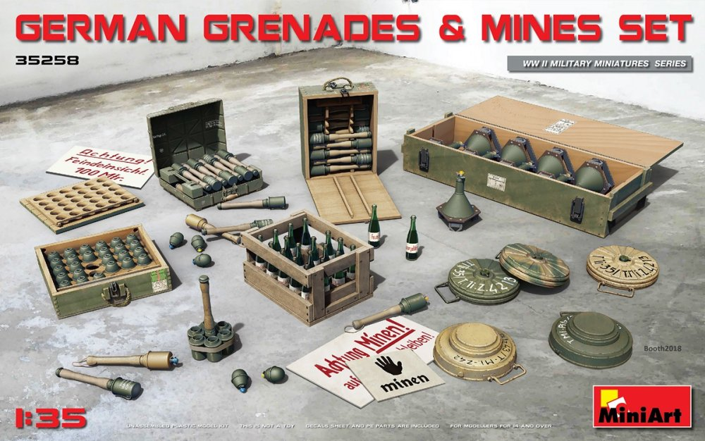 1/35 German Grenades and Mines Set (incl. PE decals)