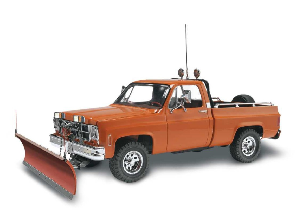 1/24 Plastikový model - Monogram auto 7222 - GMC® Pickup w/ Snow Plow