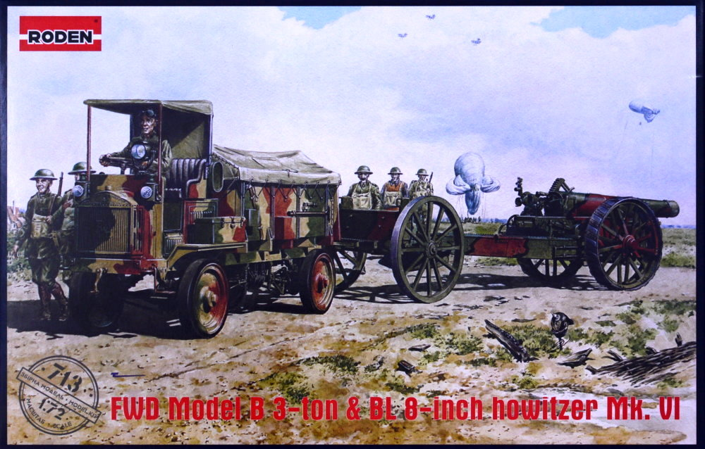 1/72 FWD Model B 3 ton and BL 8-inch howitzer Mk.VI
