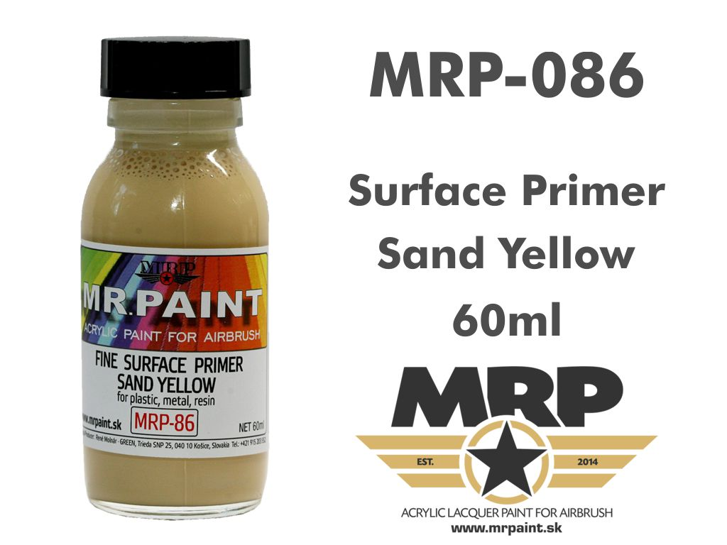 MR.Paint 086 Fine Surface Primer Sand Yellow 60ml