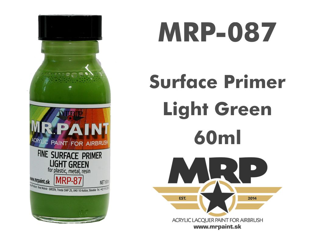 MR.Paint 087 Fine Surface Primer Light Green 60ml