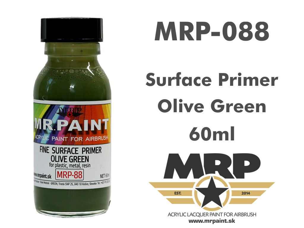 MR.Paint 088 Fine Surface Primer Olive Green 60ml
