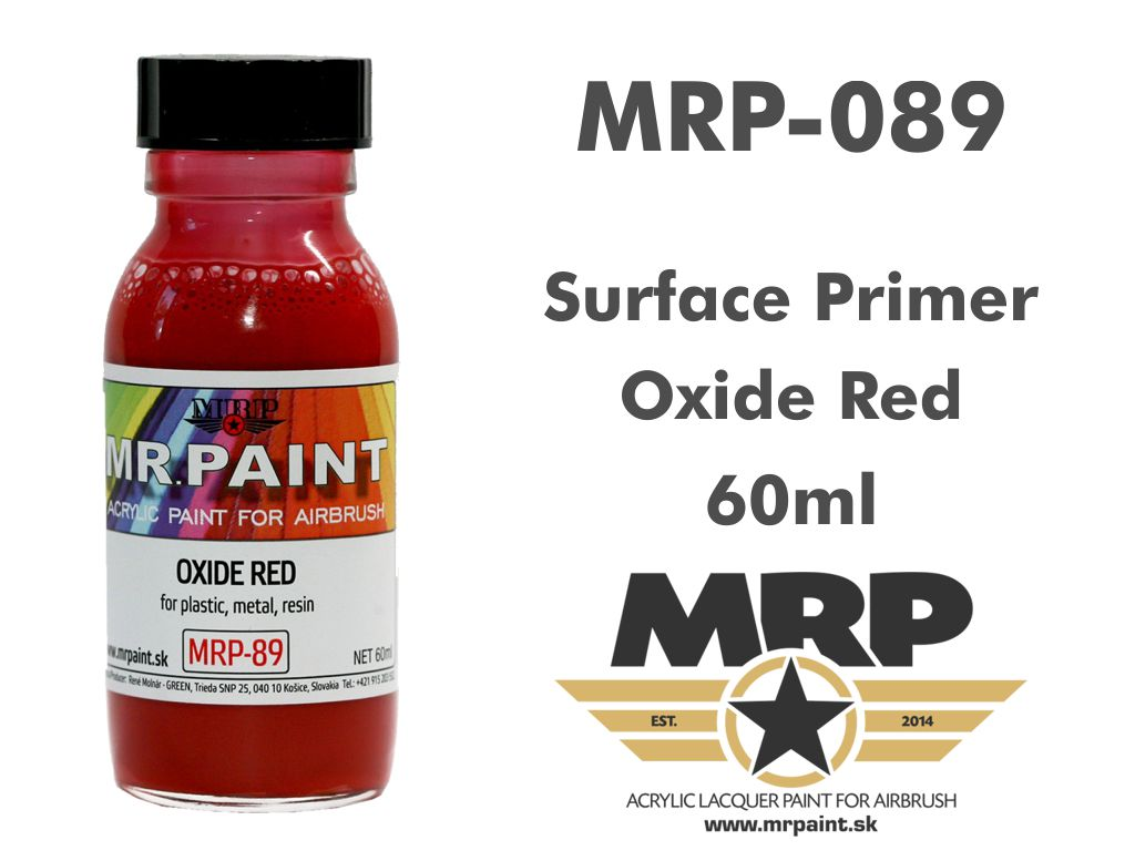 MR.Paint 089 Fine Surface Primer Oxide Red 60ml