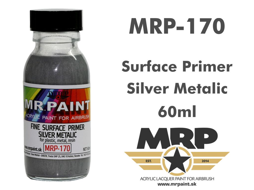 MR.Paint 170 Fine Surface Primer Silver Metalic 60ml