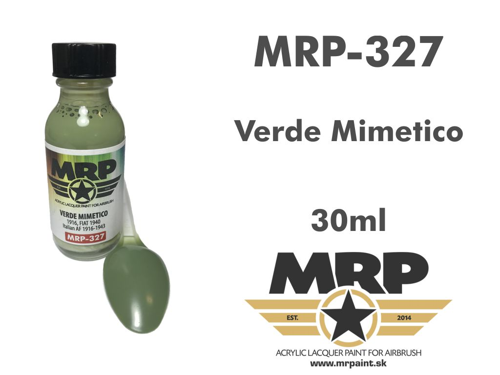 MR.Paint 327 Verde Mimetico – 1916, FIAT 1940 (Italian AF 1916-43)