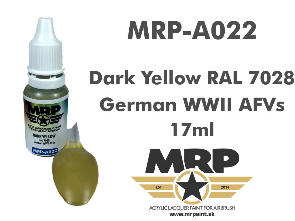 MR.Paint A022 Dark Yellow RAL 7028 17ml