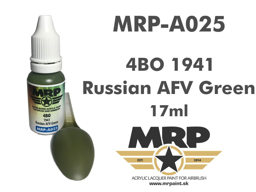 MR.Paint A025 4BO 1941 Russian AFV Green