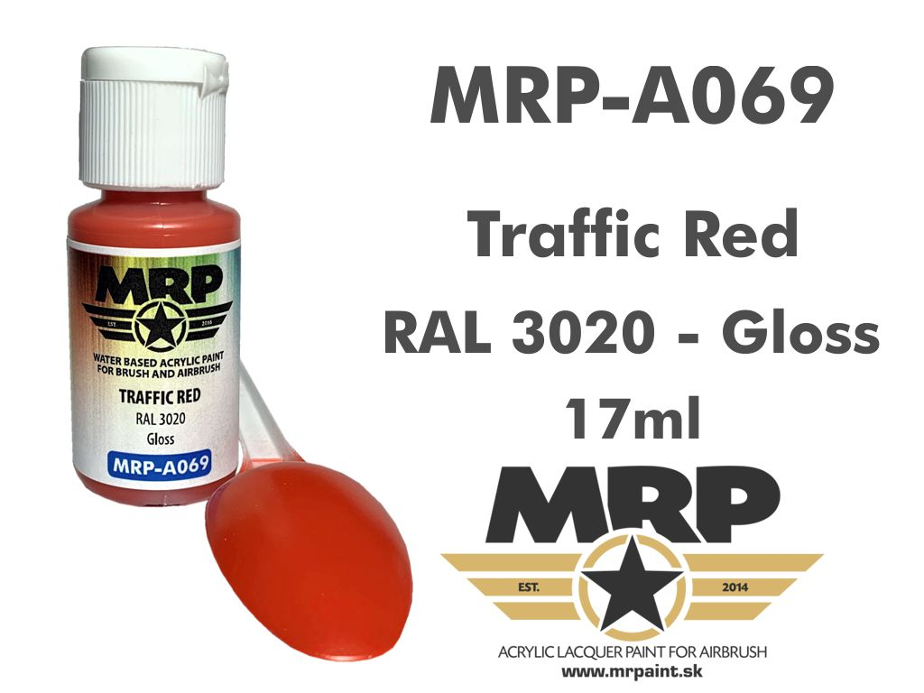 MR.Paint A069 Traffic Red RAL 3020