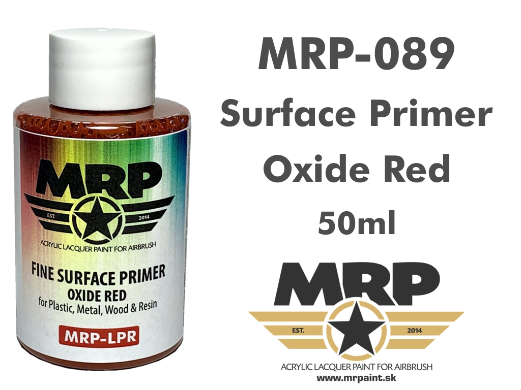 MR.Paint 089 Fine Surface Primer Oxide Red 50ml