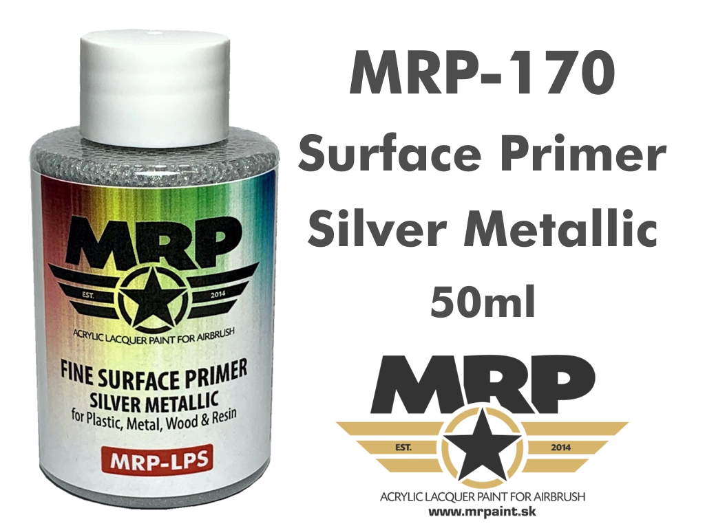 MR.Paint 170 Fine Surface Primer Silver Metalic 50ml