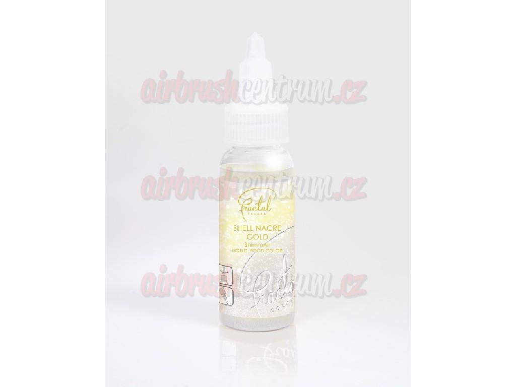 Potravinářská perleťová airbrush barva - Shell Nacre Gold 33g