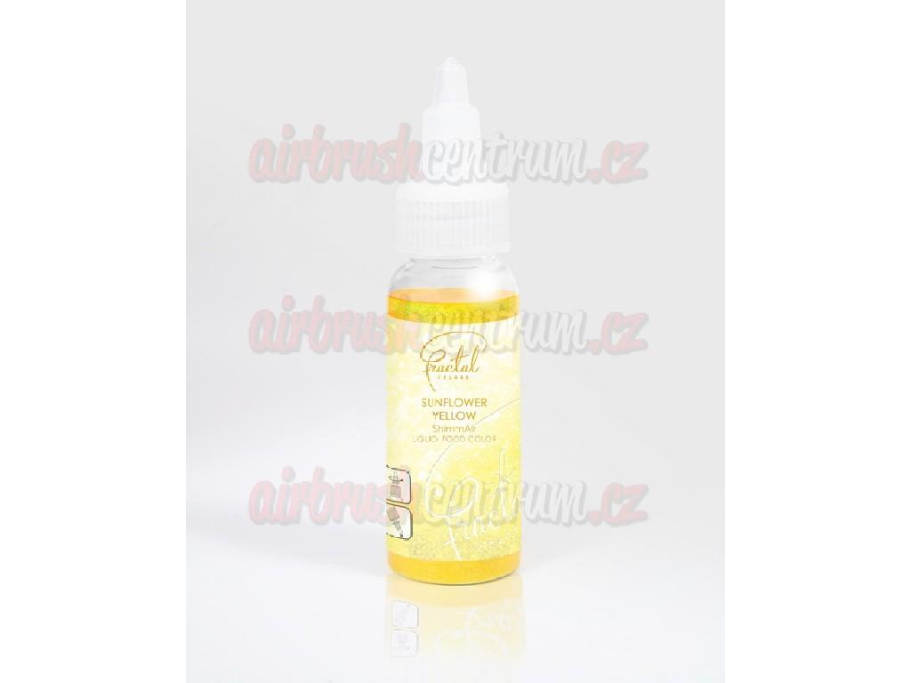 Potravinářská perleťová airbrush barva - Sunflower Yellow 33g